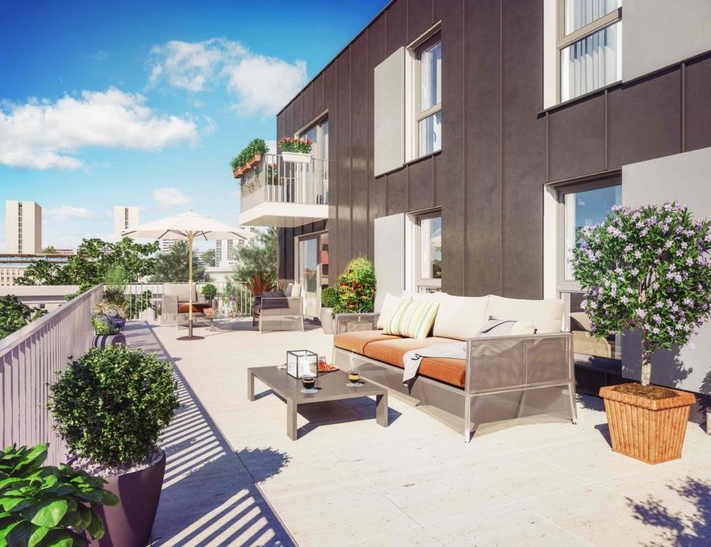 illustration 3D vue terrasse