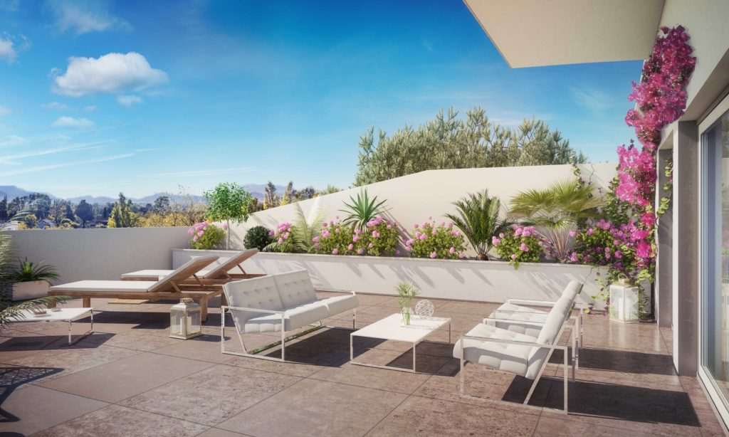 perspective 3D terrasse programme neuf
