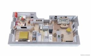 plan de vente 3D appartement