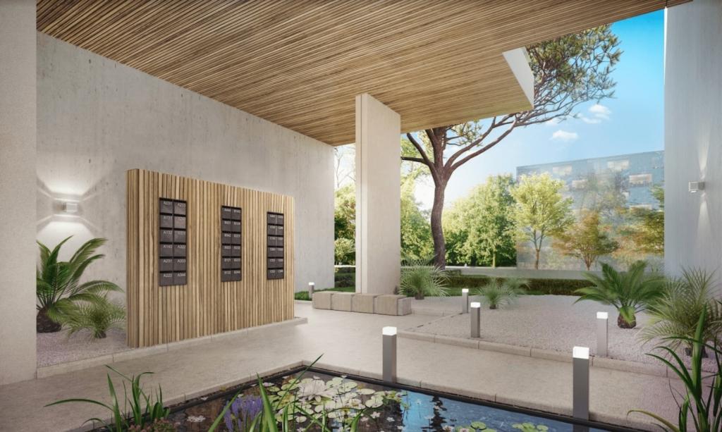 illustration 3D architecture exterieure Hall entrée