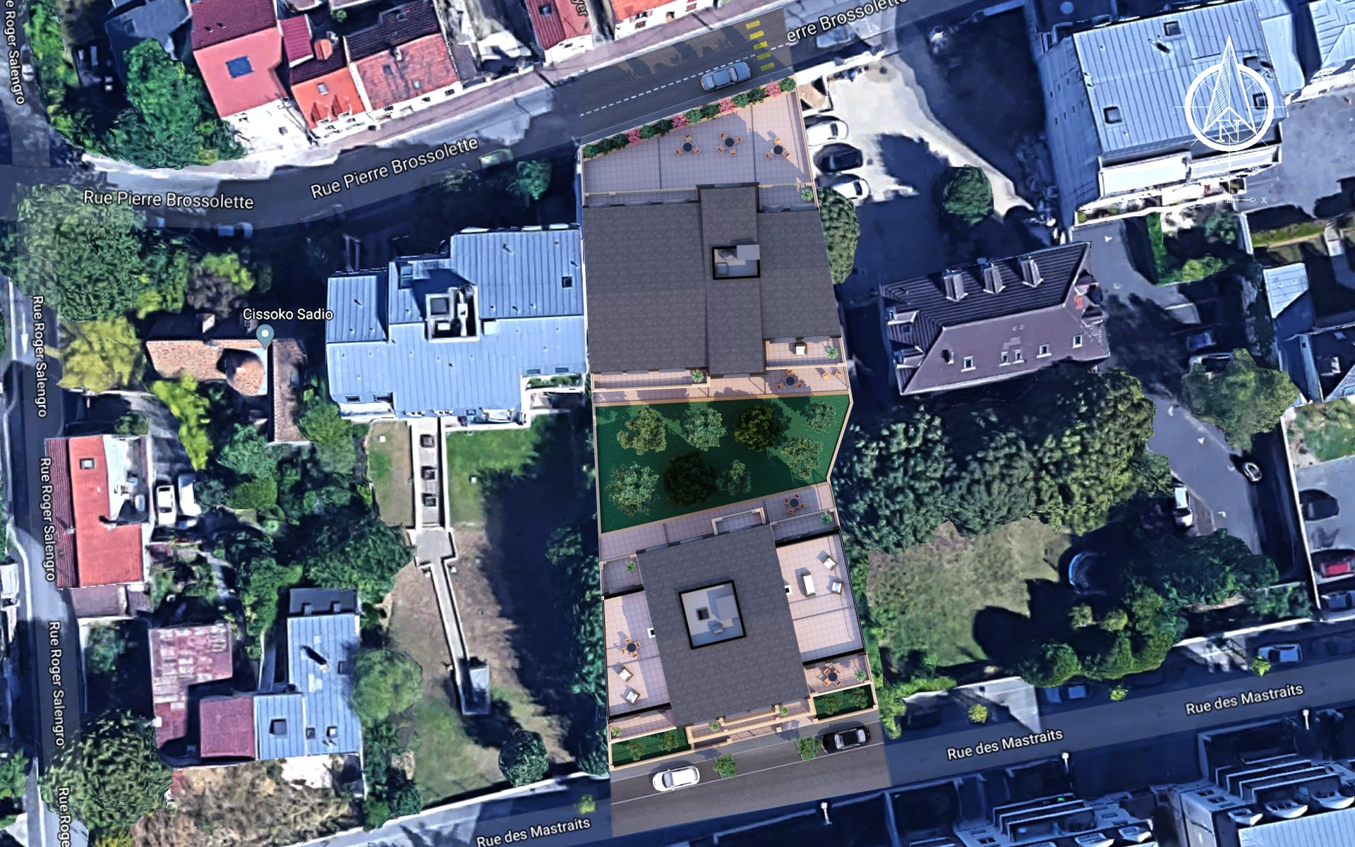 plan de masse 2D integration google maps - imagedoing