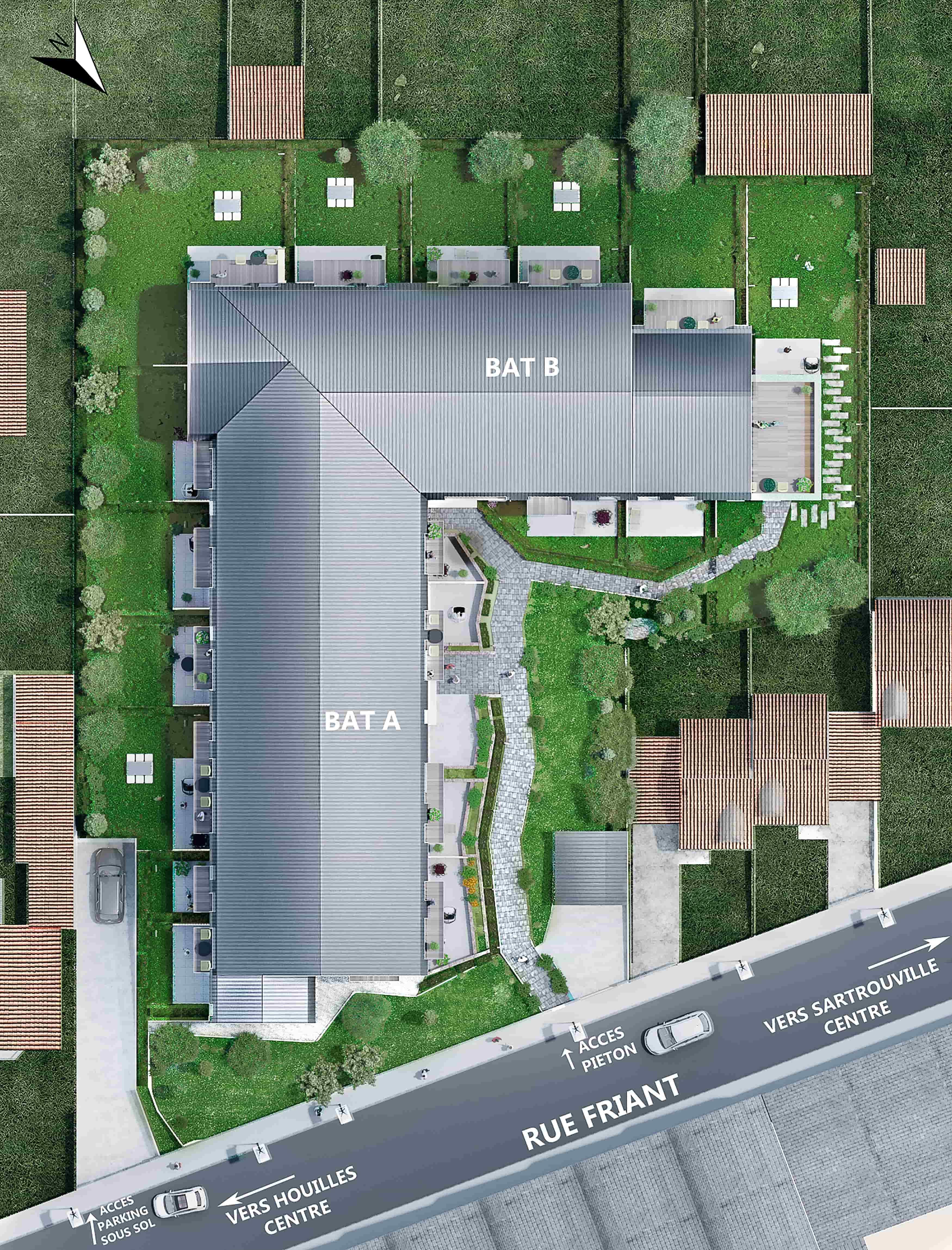 plan de masse 3D programme residentiel neuf