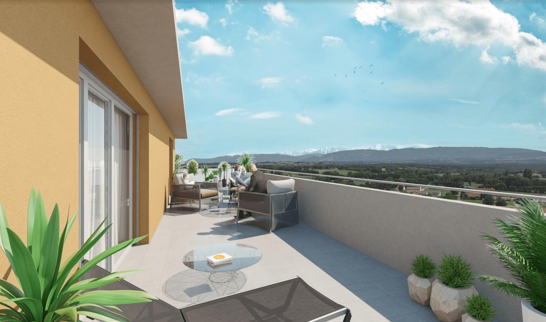 Perspective 3d vue terrasse imagedoing for Vue terrasse