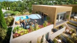 perspective 3D architecture exterieure terrasse