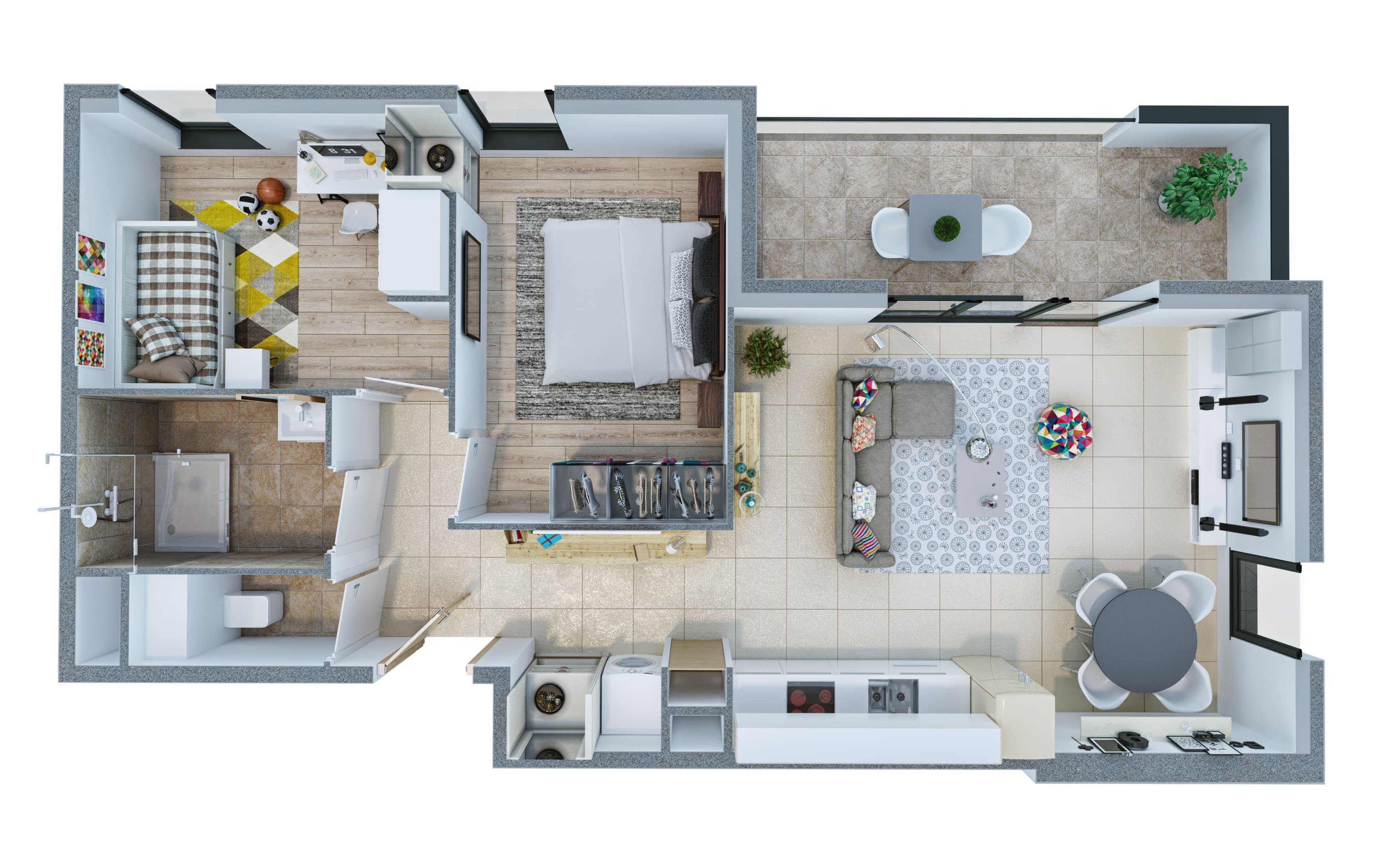 plan de vente 3d imagedoing. Black Bedroom Furniture Sets. Home Design Ideas
