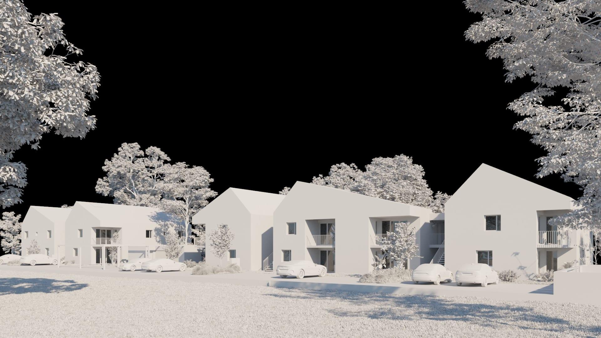 Cadrage en blanc residentiel neuf